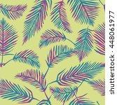 palm leaves   vector... | Shutterstock .eps vector #448061977
