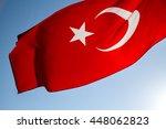 Turkish Flag Waving In The Win...