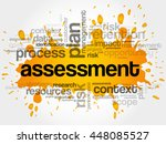 assessment word cloud collage ... | Shutterstock .eps vector #448085527