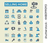 selling home icons | Shutterstock .eps vector #448099093