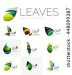 futuristic design eco leaf... | Shutterstock .eps vector #448099387