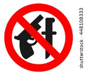 weapon prohibited icon....   Shutterstock .eps vector #448108333