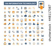 information technology icons | Shutterstock .eps vector #448117087