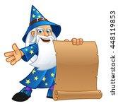 friendly wizard  wearing a...   Shutterstock .eps vector #448119853