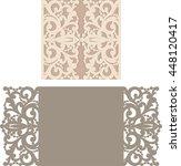 laser cut invitation card.... | Shutterstock .eps vector #448120417
