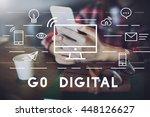 go digital communication... | Shutterstock . vector #448126627