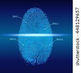 fingerprint scan  vector   Shutterstock .eps vector #448129657