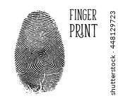 finger print  vector | Shutterstock .eps vector #448129723