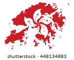 vector map hongkong country on... | Shutterstock .eps vector #448134883