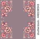 fabulous floral pattern. card... | Shutterstock .eps vector #448138543