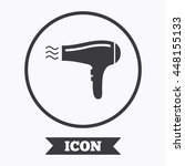 hairdryer sign icon. hair... | Shutterstock .eps vector #448155133