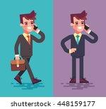 set of modern business... | Shutterstock .eps vector #448159177