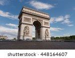 triumphal arch. paris. france.... | Shutterstock . vector #448164607