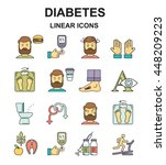 diabetes symptoms and control... | Shutterstock .eps vector #448209223