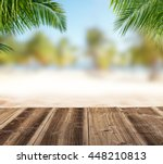 Empty Wooden Planks With Blur...