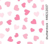 Seamless Hearts Pattern. Vecto...