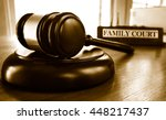 judge's legal gavel and family... | Shutterstock . vector #448217437