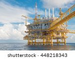 oil and gas central processing... | Shutterstock . vector #448218343