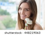 Beauty Smiling Model With...