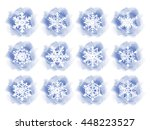 winter backgrounds with...   Shutterstock .eps vector #448223527