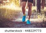 athlete running through the... | Shutterstock . vector #448229773