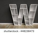 letter w shaped shelves 3d...   Shutterstock . vector #448238473