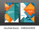 colorful geometric a4 business... | Shutterstock .eps vector #448264303