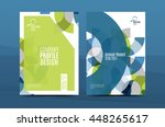 geometric design a4 size cover... | Shutterstock .eps vector #448265617