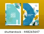geometric design a4 size cover... | Shutterstock .eps vector #448265647