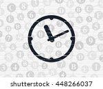 timeline concept  painted black ... | Shutterstock . vector #448266037