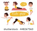 yoga kids set. gymnastics for... | Shutterstock .eps vector #448267363