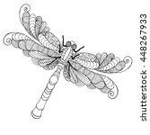 Zentangle Stylized Dragonfly....