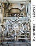 engine turbine operation in oil ... | Shutterstock . vector #448269997