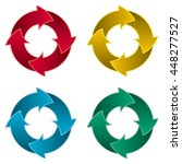 set of four arrow circle. four...   Shutterstock .eps vector #448277527