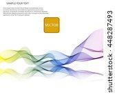 vector abstract spectrum... | Shutterstock .eps vector #448287493