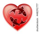 zodiac sign pisces  vector...   Shutterstock .eps vector #448291777