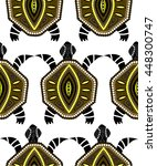 seamless pattern with turtles... | Shutterstock .eps vector #448300747