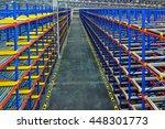 pallet racking system for...   Shutterstock . vector #448301773