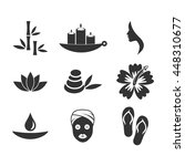 spa icon set vector  | Shutterstock .eps vector #448310677