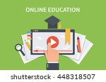 online education concept... | Shutterstock .eps vector #448318507