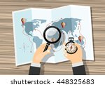 planning trip concept at table... | Shutterstock .eps vector #448325683
