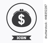 wallet dollar sign icon. cash... | Shutterstock .eps vector #448352287