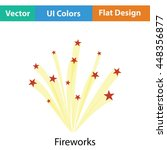 fireworks icon. flat color...