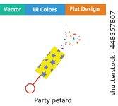 party petard  icon. flat color...