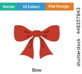 party bow icon. flat color...