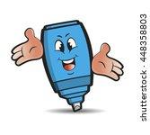 blue colored happy marker pen...   Shutterstock .eps vector #448358803