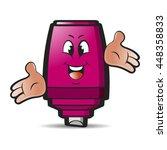 happy pink cartoon marker pen...   Shutterstock .eps vector #448358833