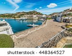 poltu quatu harbor on a clear... | Shutterstock . vector #448364527