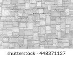White Stone Wall Texture And...