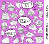 desserts sweets shape pink... | Shutterstock .eps vector #448375543